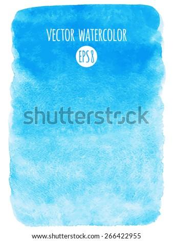sky blue watercolor vector