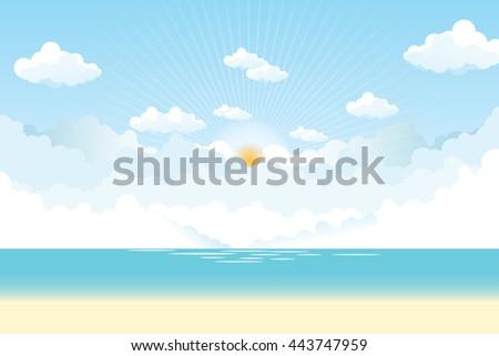 sky cloud sunshine summer