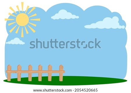 sky landscape with sun and
