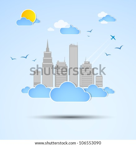 sky scraper city theme