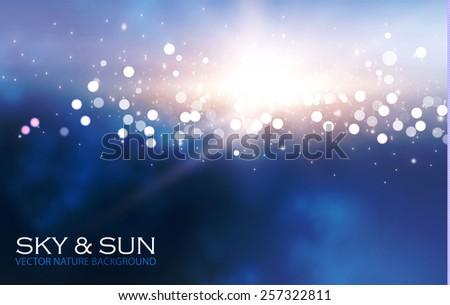 sky   sun blur bokeh light