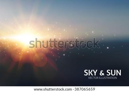 sky   sun realistic blur