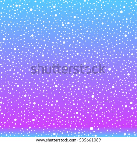 sky with snow flakes abstract