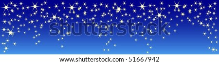 sky with stars vector