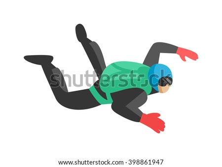 skydiver man jumper and