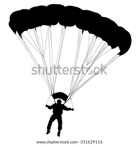 skydiver  silhouettes