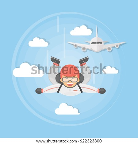 skydiving active sport man in
