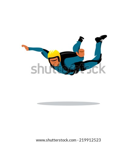 skydiving man parachuting