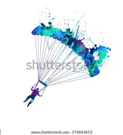 skydiving  splash paint