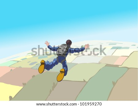 Skydiving vector