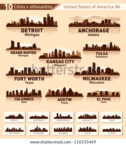 Skyline city set. 10 cities of USA #4