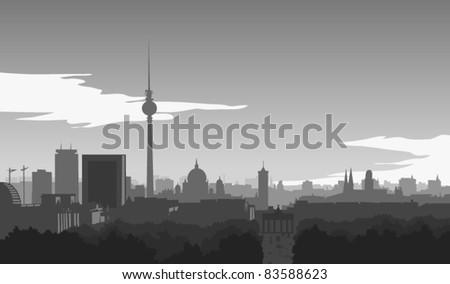 skyline of berlin  illustration