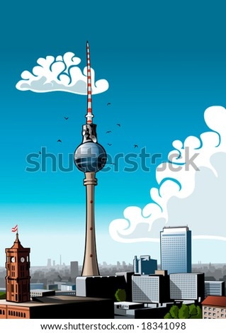 skyline of berlin with