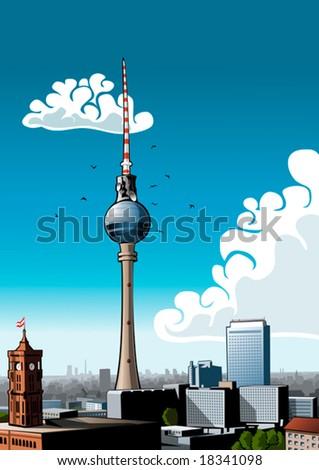 skyline of berlin with