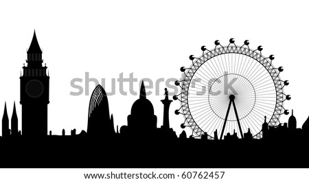 skyline of London - vector