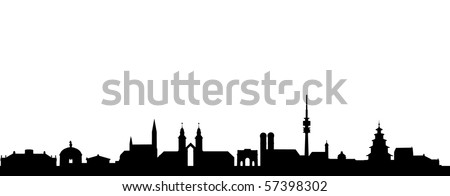 Skyline of Munich - stock vector