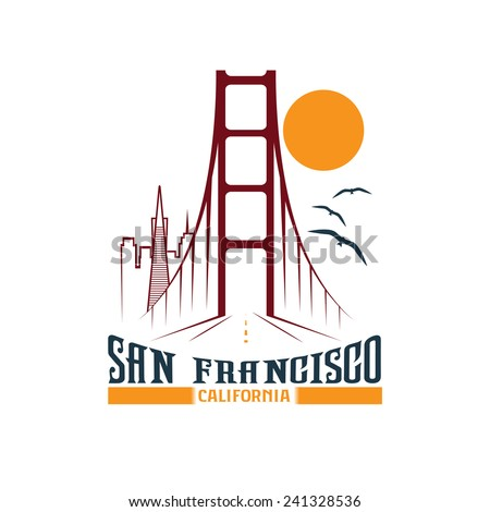 skyline of san francisco vector ...