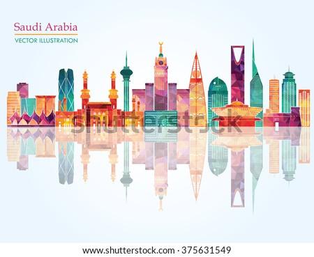 skyline of saudi arabia