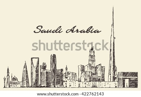 skyline of saudi arabia ...