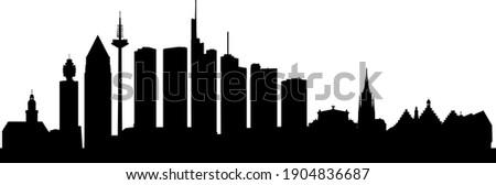 Skyline of the german city Frankfurt am Main Stockfoto ©
