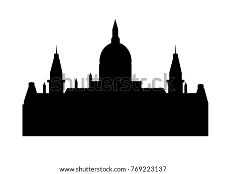 skyline of the new city hall of