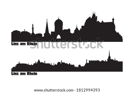 skyline of two city views in