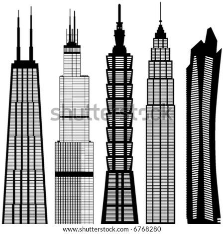 skyscraper buildings vector 3