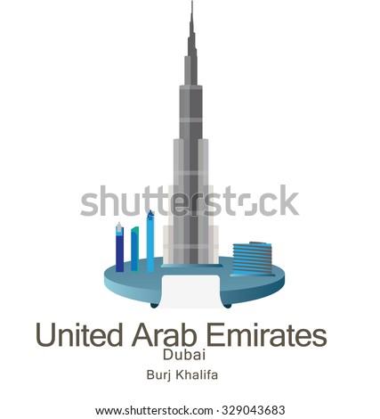 skyscraper burj khalifan in