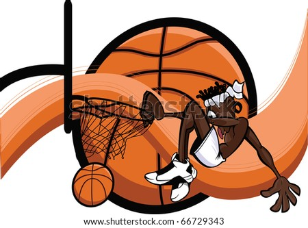 basketball dunk drawings. stock vector : Slam Dunk