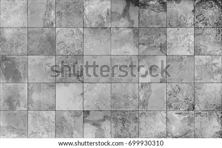 Slate tile ceramic, seamless texture square light gray map, vector graphics