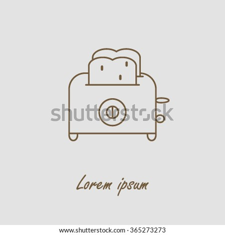Sleek modern logo toaster with toast. Clean and simple label for companies and shops. Vector illustration Stock photo ©