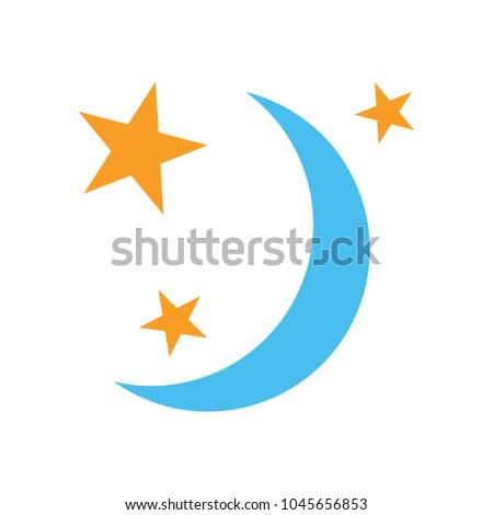 sleep icon, night moon, sleeping symbol
