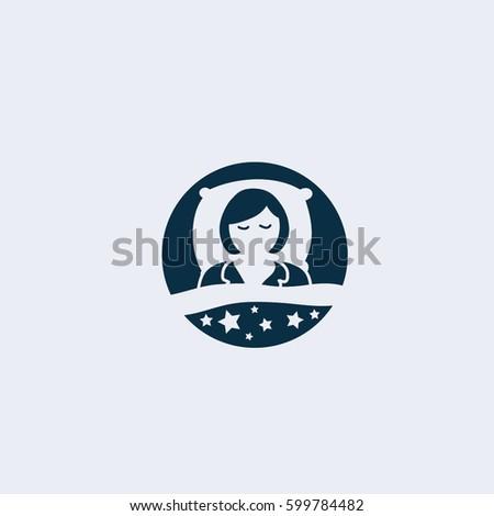 Sleep  icon,Sleep and rest symbol stock vector illustration.