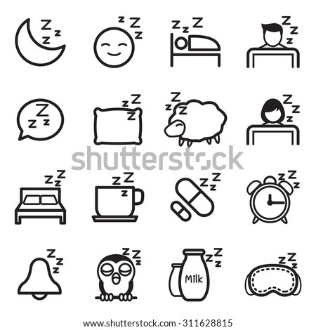 Sleep  icon Symbol illustration Set