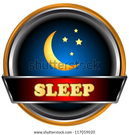 Sleep logo in unique style on a black background