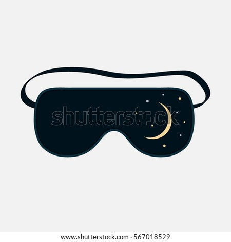 Sleep mask . an icon in a flat style isolation on a white background
