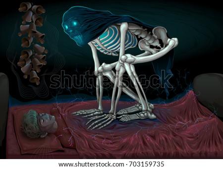 sleep paralysis horror scene