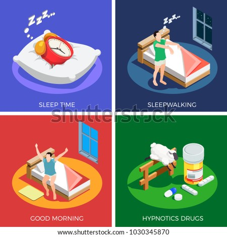 sleep time isometric design