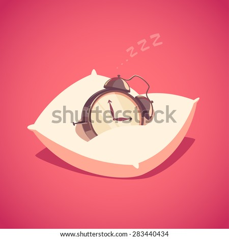 sleeping alarm clock isolated