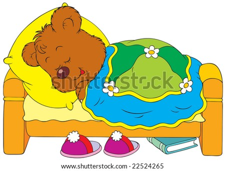 Sleeping bear - stock vector