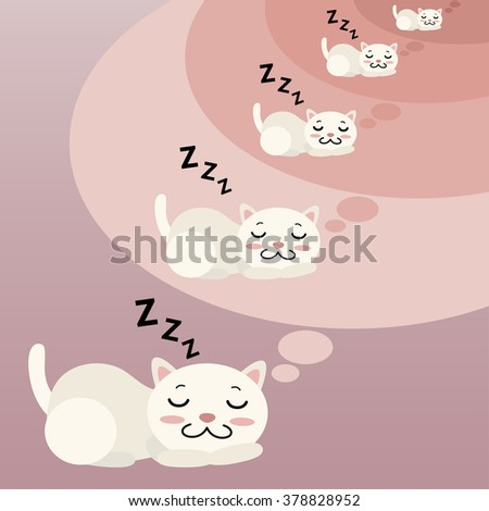 sleeping cat inception cartoon