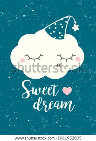 sleeping cloud lettering