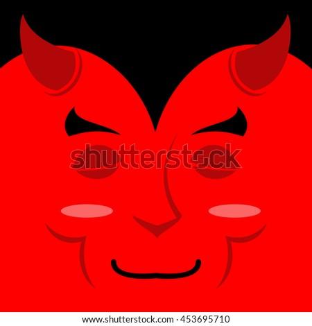 sleeping demon with big smile