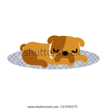 sleeping dog vector cartoon