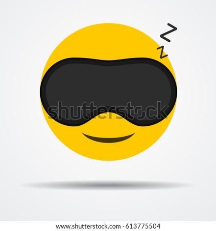 sleeping emoji in a sleep mask