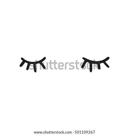 Sleeping eyes outline icon design