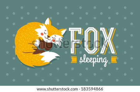 Sleeping Fox Template #183594866