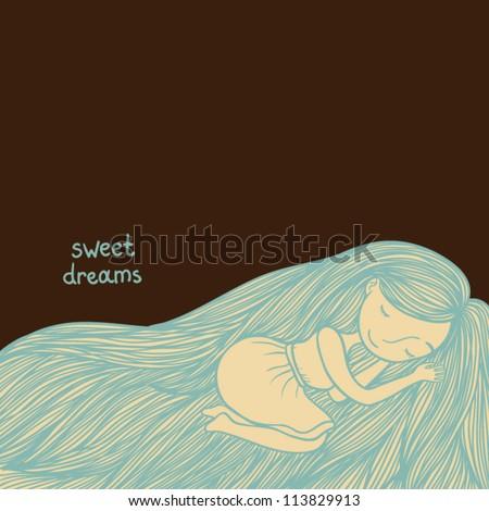 sleeping girl background