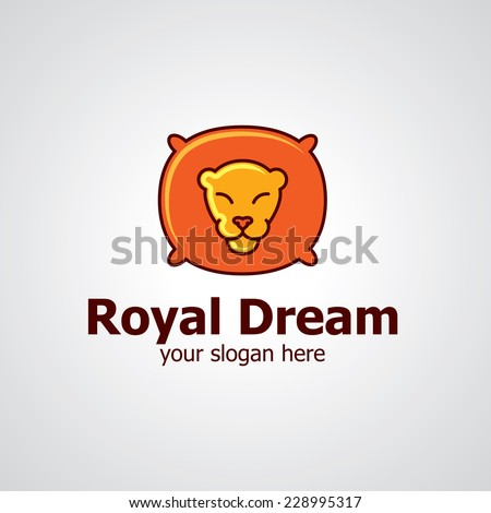 sleeping lion as pillow vector