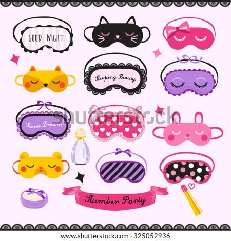 Sleeping Mask Vector Design illustration